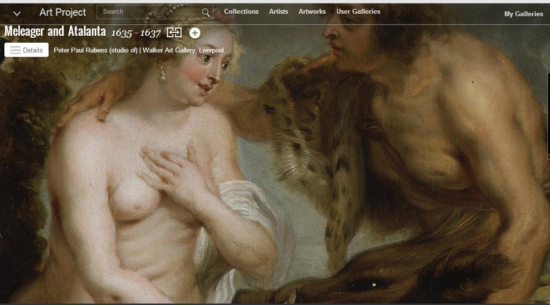 Η άγρια αποτύπωση του Αιτωλού Μελέαγρου και της Αταλάντης στο Google Art Project