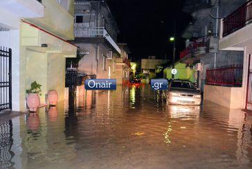 Πλημμύρισαν πάλι οι δρόμοι στο Μεσολόγγι! (video)
