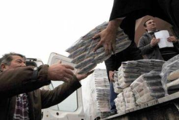 Διανομή τροφίμων από το Κοινωνικό Παντοπωλείο Μεσολογγίου