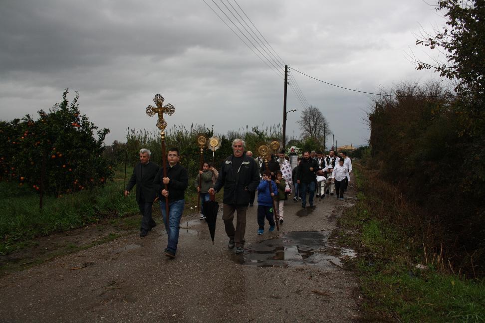 Λιτάνευση της εικόνας του Αγίου Νικολάου στα Καλύβια