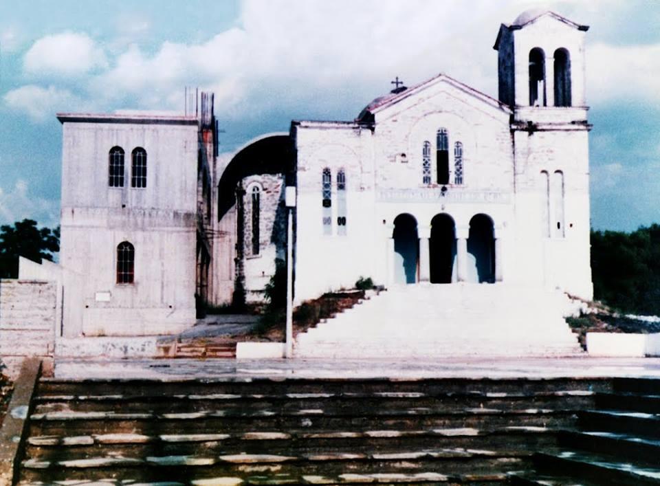 Η εκκλησία του Αγίου Κωνσταντίνου κατά την ανέγερση της