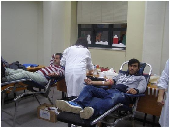 Eθελοντική αιμοδοσία στο ΣΔΕ Αγρινίου