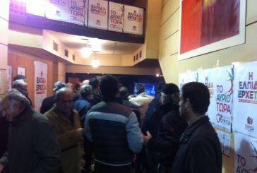 Eνθουσιασμός στο εκλογικό κέντρο ΣΥΡΙΖΑ στο  Αγρίνιο