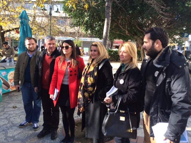 Βανάκι, εθελοντές και υποψήφιοι του Ποταμιού στο Aγρίνιο