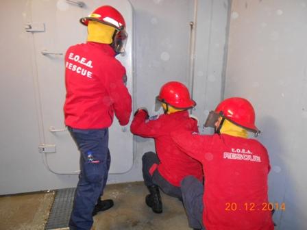 Εκπαίδευση της Ε.Ο.Ε.Δ Μεσολογγίου στη σχολή Ε/Β του Πολεμικού Ναυτικού