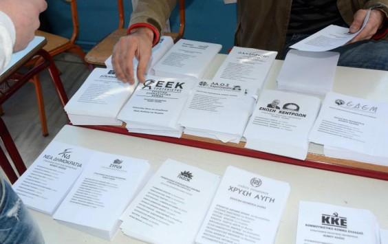 Αποτελέσματα υποψήφιων Βουλευτών στο Νομό