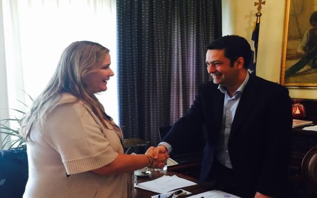 """Επίσκεψη στον δήμαρχο Αγρινίου και συνέντευξη στο """"Έθνος"""" από την Άννα Ροκοφύλλου"""