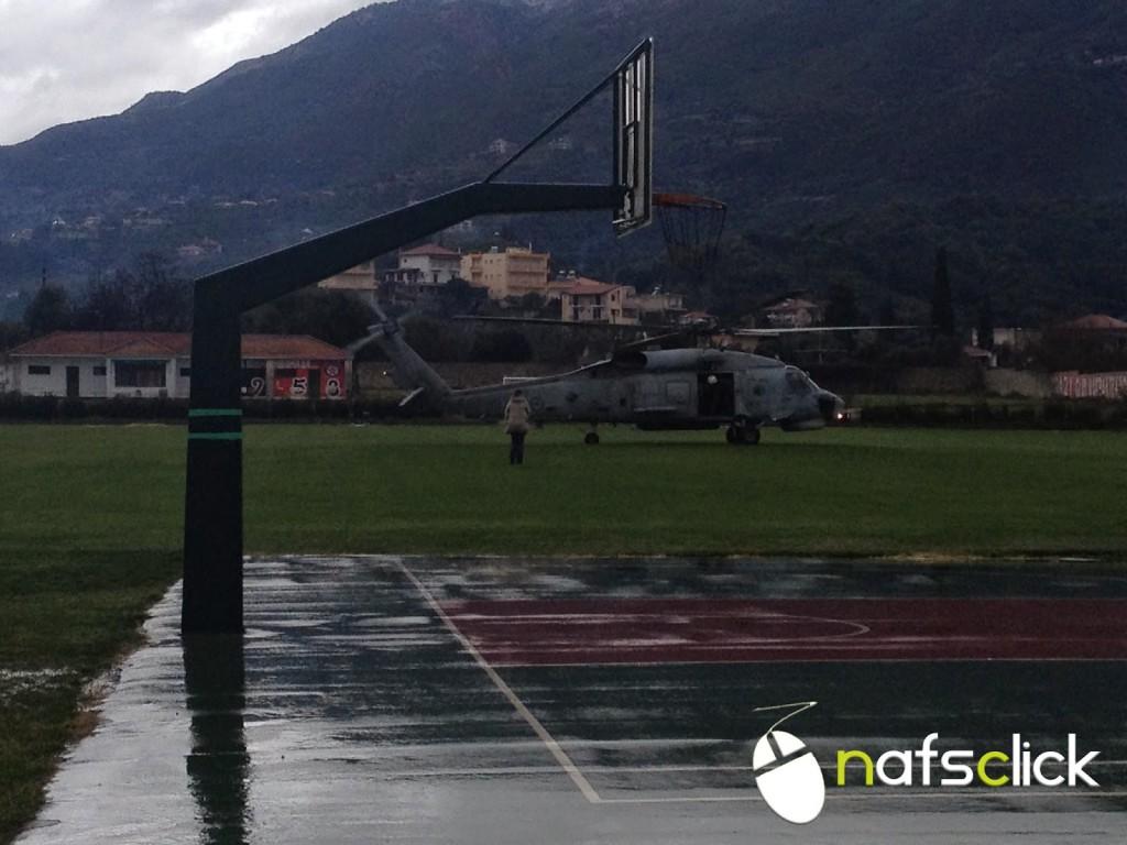 Το ελικόπτερο στις πληγείσες περιοχές της Ορεινής Ναυπακτίας