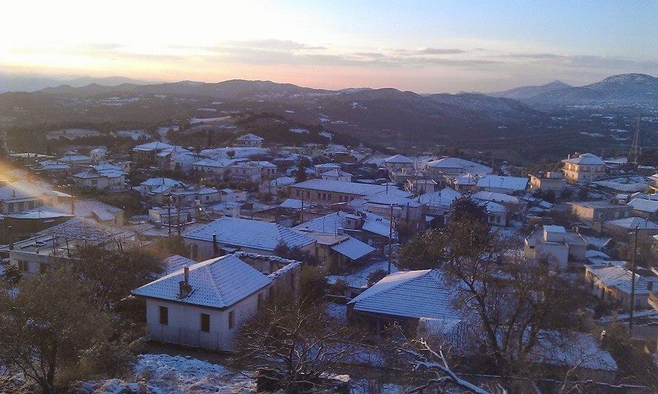 Η χιονισμένη Κατούνα (φωτό)