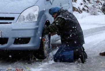 Προβλήματα σε δρόμους της Αιτωλοακαρνανίας λόγω χιονοπτώσεων
