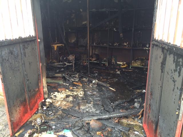 Ζημιές από φωτιά σε κατοικία της οδού Πανεπιστημίου
