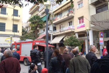 Video από την επιχείρηση κατάσβεσης φωτιάς σε διαμέρισμα της κεντρικής πλατείας