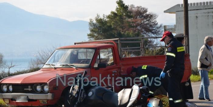 Ναύπακτος: Τροχαίο στον Πλατανίτη με σοβαρά τραυματία δικυκλιστή