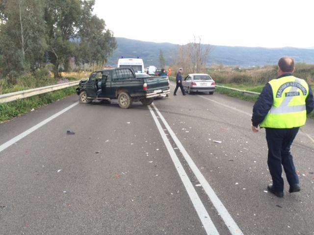 Tροχαίο με τραυματίες στην εθνική οδό