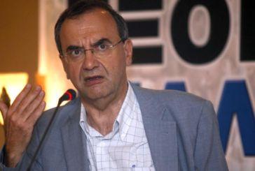Ο Δημ. Στρατούλης στην παρουσίαση του ψηφοδελτίου της ΛΑ.Ε. στο Αγρίνιο