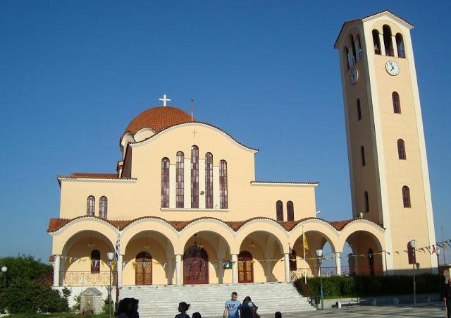 O νέος μεγαλοπρεπής Ναός του Αγίου Κωνσταντίνου θεμελιώθηκε το 1978 για να καλυφθούν οι λατρευτικές ανάγκες των προσφυγών
