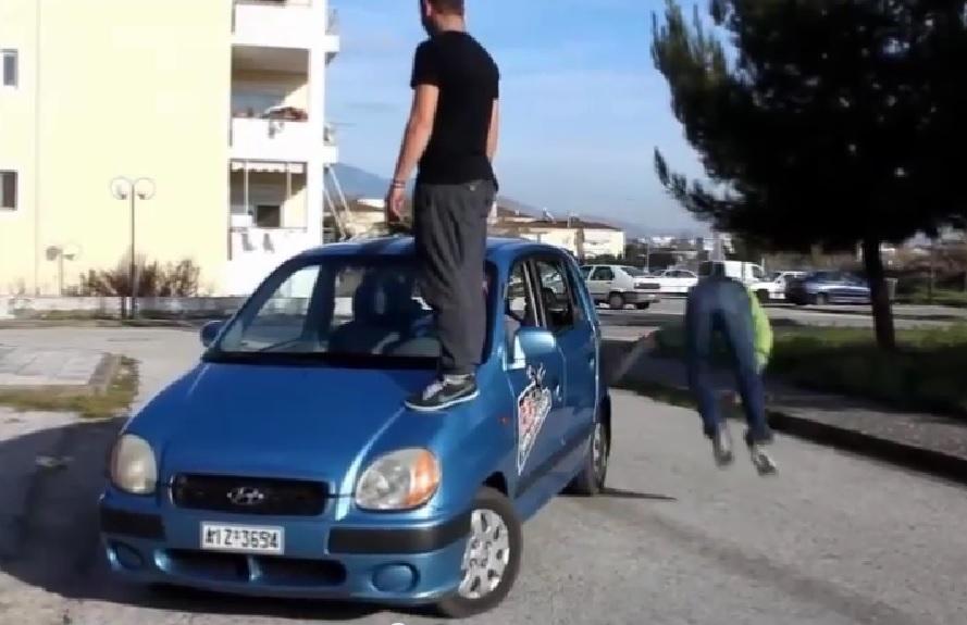 Παρκουρίστες στο Αγρίνιο (video)