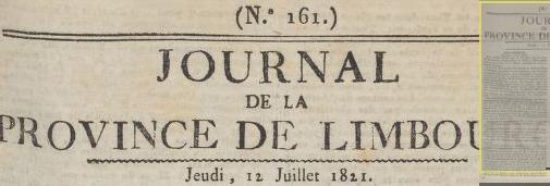 Journal de la province de Limbourg182112july2