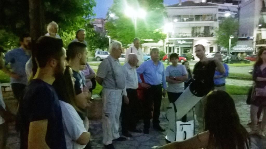 Εξόρμηση με τηλεσκόπια στα τρένα και στην Κεντρική Πλατεία Αγρινίου