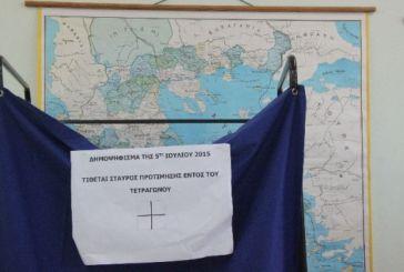 Αναλυτικά αποτελέσματα στην Αιτωλοακαρνανία- ΟΧΙ 60,90%