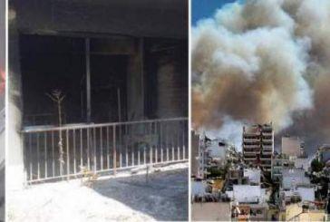 Μάχη με τη φωτιά στον Υμηττό -Κάηκαν σπίτια