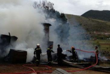 Στις φλόγες αγροτική αποθήκη στα Ρέτσινα Μεσολογγίου