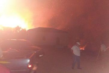 Aναστάτωση απο νυχτερινη φωτιά στο Θύρρειο