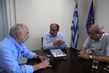 Συνάντηση  Κατσιφάρα με τον Πρόεδρο του Ελληνικού Ανοικτού Πανεπιστημίου