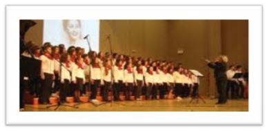 Η χορωδία του Μουσικού Σχολείου στα Παναγρίνεια