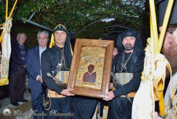 H ιερά εικόνα της Παναγίας Σουμελά στην Ιερά Μονή Μυρτιάς (φωτό)