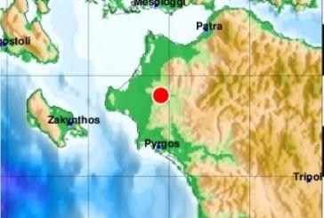 Σεισμός στην Ηλεία αισθητός και στο Αγρίνιο