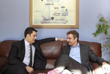 Συνάντηση στα… πεταχτά με τον δήμαρχο Αγρινίου