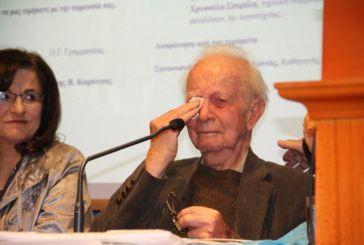 Συγκινητική η εκδήλωση τιμής για τον Αιτωλικιώτη ποιητή Τάκη Καρβέλη στην Αθήνα