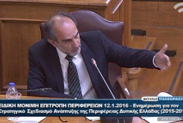 """Κατσιφάρας στη Βουλή: """"Η Περιφέρεια Δυτικής Ελλάδας ήδη προχωρά σε επανεκκίνηση της οικονομίας"""""""