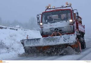 Λόγω της χιονόπτωσης κλειστός ο δρόμος προς ΧΥΤΑ Στράτου