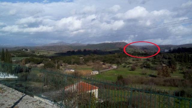 H φωτογραφία της αγροτικής περιοχής, όπου ενδιαφέρονται να δημιουργήσουν μονάδα βιομάζας ανάμεσα στα χωριά Χρυσοβίτσα και Πρόδρομος