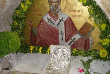 Απότμημα Ιερού Λειψάνου του Αγίου Μύρωνος Κρήτης στον Άγιο Νικόλαο Βόνιτσας