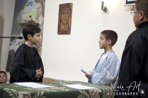 Εκδήλωση για τους Τρεις Ιεράρχες από τα παιδιά του κατηχητικού του Ι.Ν. Αγ. Νικολάου Αστακού