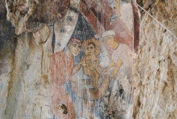 Βραχογραφίες του 9ου αιώνα στο σπήλαιο του «κρεμαστού» Αγίου στον Αράκυνθο