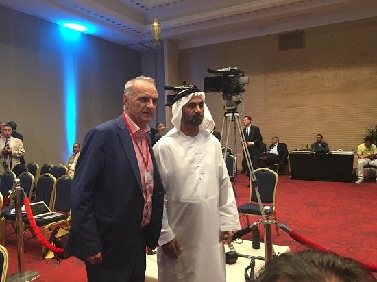 O Βαρεμένος με τον πρόεδρο του Αραβικού Κοινοβουλίου