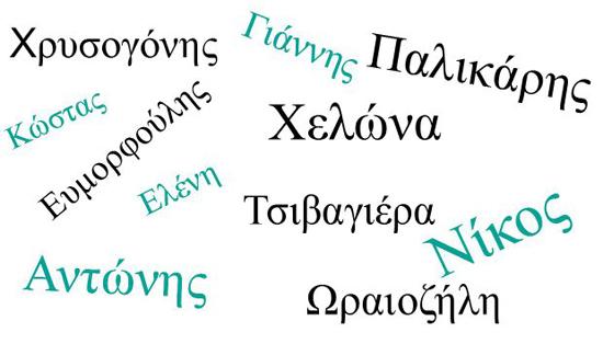 Περίεργα ελληνικά ονόματα