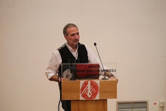 Διάλεξη Δρ. Μάνου Δανέζη στο Τμήμα Διοίκησης Επιχειρήσεων στο Μεσολόγγι