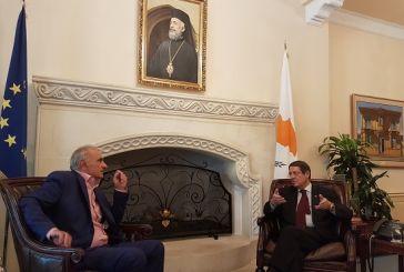 Συνάντηση Βαρεμένου με τον Πρόεδρο της Κύπρου Ν. Αναστασιάδη