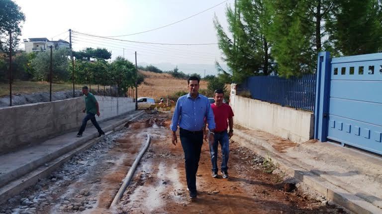 Επίσκεψη του Δημάρχου Αγρινίου στα έργα στην επέκταση του σχεδίου πόλεως.