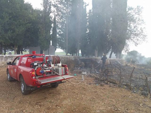Φωτιά στο εκκλησάκι της Μεταμόρφωσης του Σωτήρος στην Κατούνα- κάηκαν 10 στρέμματα