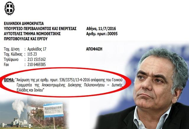 Ακυρώθηκε επίσημα με απόφαση Σκουρλέτη το εργοστάσιο βιομάζας στη Χρυσοβίτσα