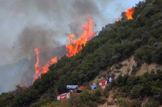 Μεγάλη επιχείρηση της πυροσβεστικής στον Άγιο Γεώργιο- κάηκαν 1200 στρέμματα