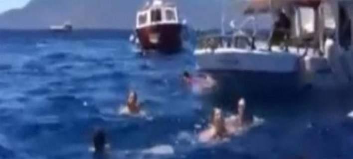 Αίγινα, βίντεο ντοκουμέντο -Τα πρώτα λεπτά μετά τη σύγκρουση των σκαφών