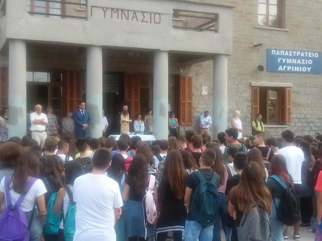 Στον αγιασμό για τη νέα σχολική χρονιά ο δήμαρχος Αγρινίου Γ. Παπαναστασίου