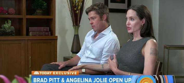 Η «κοινή συνέντευξη» Πιτ-Τζολί στα ελληνικά, μετά το διαζύγιο, που σαρώνει στο Διαδίκτυο
